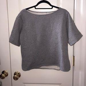 Zara Short Sleeve Sweatshirt Top